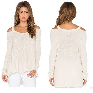 FREE PEOPLE Moonshine V Cold shoulder sweater
